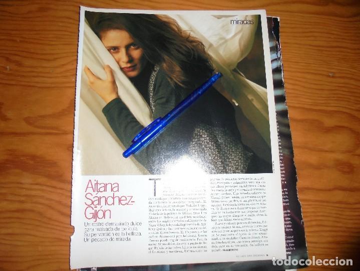 RECORTE PRENSA : MIRADAS : AITANA SANCHEZ-GIJON. REVERSO : JAVIER BARDEM. CINEMANIA, OCTBRE 1995 (Cine - Revistas - Cinemanía)
