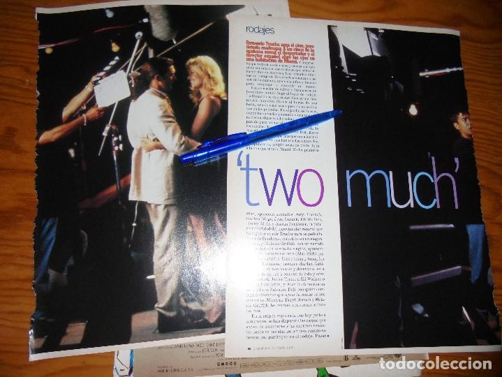 RECORTE PRENSA : RODAJES : TWO MUCH. ANTONIO BANDERAS, MELANIE GRIFFITH. CINEMANIA, OCTBRE 1995 (Cine - Revistas - Cinemanía)