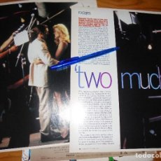 Cine: RECORTE PRENSA : RODAJES : TWO MUCH. ANTONIO BANDERAS, MELANIE GRIFFITH. CINEMANIA, OCTBRE 1995. Lote 127570911