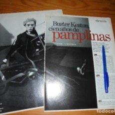 Cine: RECORTE PRENSA : BUSTER KEATON, CIEN AÑOS DE PAMPLINAS. CINEMANIA, OCTBRE 1995. Lote 127571067