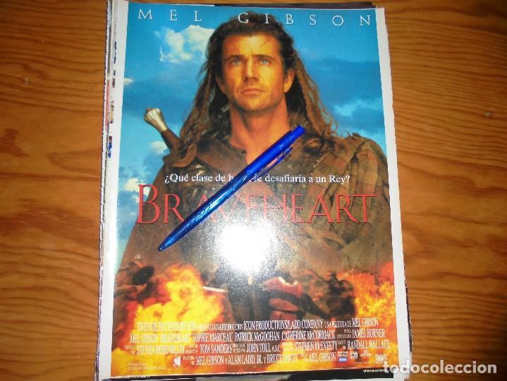 PUBLICIDAD PELICULA : BRAVEHEART. MEL GIBSON. CINEMANIA, OCTBRE 1995 (Cine - Revistas - Cinemanía)