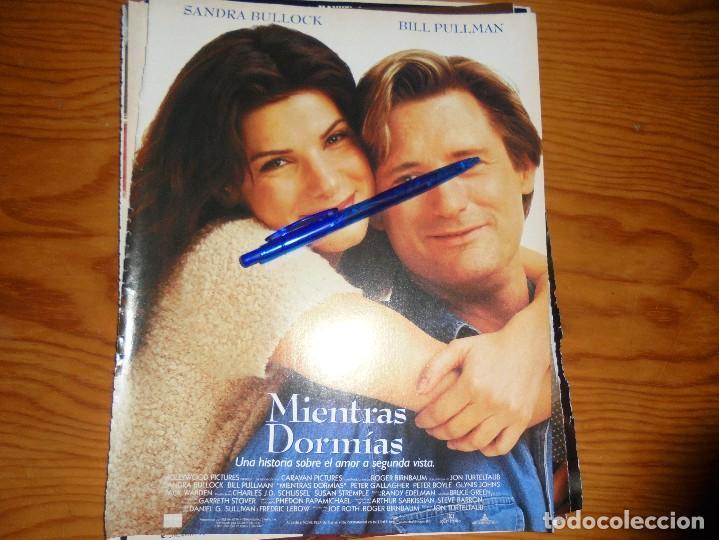 PUBLICIDAD PELICULA : MIENTRAS DORMIAS. SANDRA BULLOCK, BILL PULLMAN. CINEMANIA, OCTBRE 1995 (Cine - Revistas - Cinemanía)