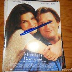 Cine: PUBLICIDAD PELICULA : MIENTRAS DORMIAS. SANDRA BULLOCK, BILL PULLMAN. CINEMANIA, OCTBRE 1995. Lote 127571327