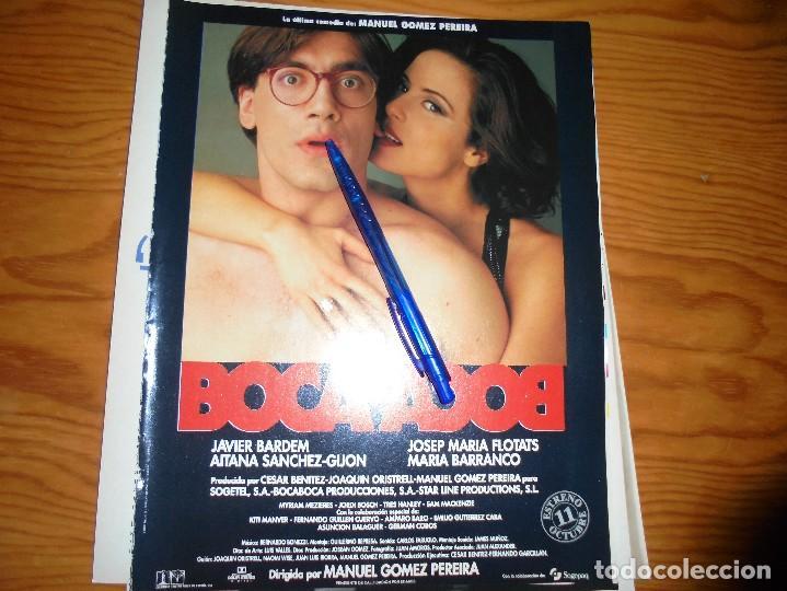 PUBLICIDAD PELICULA : BOCA A BOCA. JAVIER BARDEM, AITANA SANCHEZ-GIJON. CINEMANIA, OCTBRE 1995 (Cine - Revistas - Cinemanía)