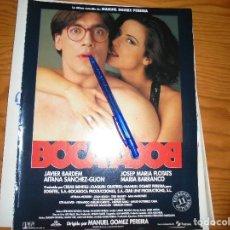 Cine: PUBLICIDAD PELICULA : BOCA A BOCA. JAVIER BARDEM, AITANA SANCHEZ-GIJON. CINEMANIA, OCTBRE 1995. Lote 127571403