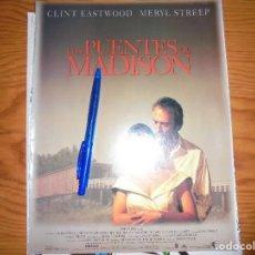 Cine: PUBLICIDAD PELICULA : LOS PUENTES DE MADISON. CLINT EASTWOOD, MERYL STREEP. CINEMANIA, OCTBRE 1995. Lote 127571499