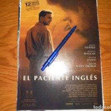Cine: PUBLICIDAD DE LA PELICULA : EL PACIENTE INGLES. RALPH FIENNES. CINERAMA, MARZO 1997. Lote 127572403