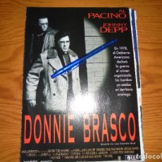 Cine: PUBLICIDAD DE LA PELICULA : DONNIE BRASCO. AL PACINO, JOHNNY DEEP. CINERAMA, MARZO 1997. Lote 127572495