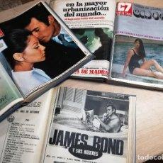 Cine: CINE EN 7 DIAS C7 -TRES TOMOS AÑO 1971 COMPLETO - 52 REVISTAS-DEL Nº508 AL Nº559.. Lote 127828787