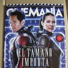 Cine: CINEMANIA Nº274 (PORTADA:ANT-MAN Y LA AVISPA) LEER DESCRIPCION. Lote 127962655