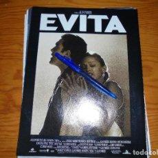Cinéma: PUBLICIDAD PELICULA : EVITA : MADONNA, ANTONIO BANDERAS. FOTOGRAMAS, ENERO 1997. Lote 128091707