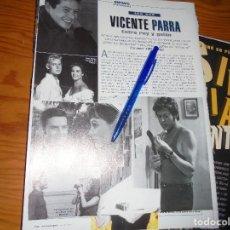 Cinema: RECORTE PRENSA : VICENTE PARRA, ENTRE REY Y GALAN . SARA MONTIEL. FOTOGRAMAS, ABRIL 1997. Lote 128092079