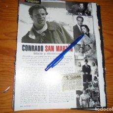 Cine: RECORTE PRENSA : CONRADO SAN MARTIN, OFICIO Y DISTINCION. FOTOGRAMAS, ABRIL 1997. Lote 128092215