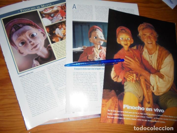 RECORTE PRENSA : NUEVA VERSION DE PINOCHO.. CINERAMA, DCMBRE 1996 (Cine - Revistas - Cinerama)