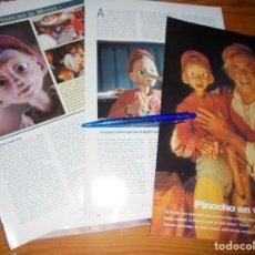 Cine: RECORTE PRENSA : NUEVA VERSION DE PINOCHO.. CINERAMA, DCMBRE 1996. Lote 128093227