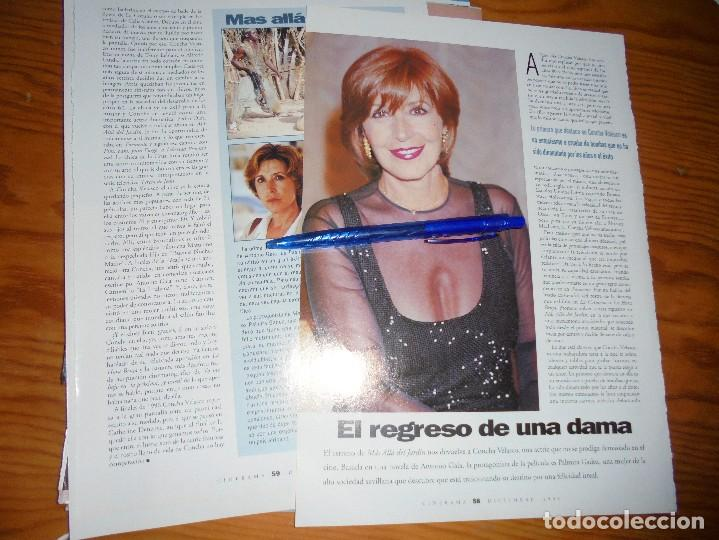 RECORTE PRENSA : CONCHA VELASCO, EL REGRESO DE UNA DAMA. CINERAMA, DCMBRE 1996 (Cine - Revistas - Cinerama)