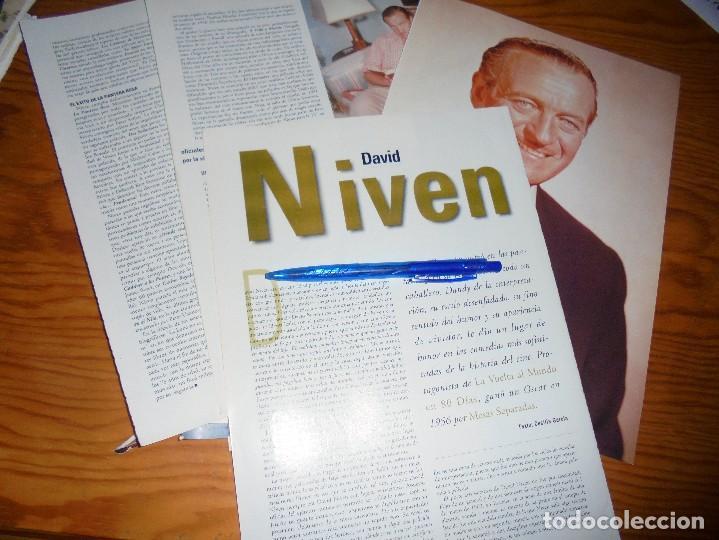RECORTE PRENSA : DAVID NIVEN . CINERAMA, DCMBRE 1996 (Cine - Revistas - Cinerama)