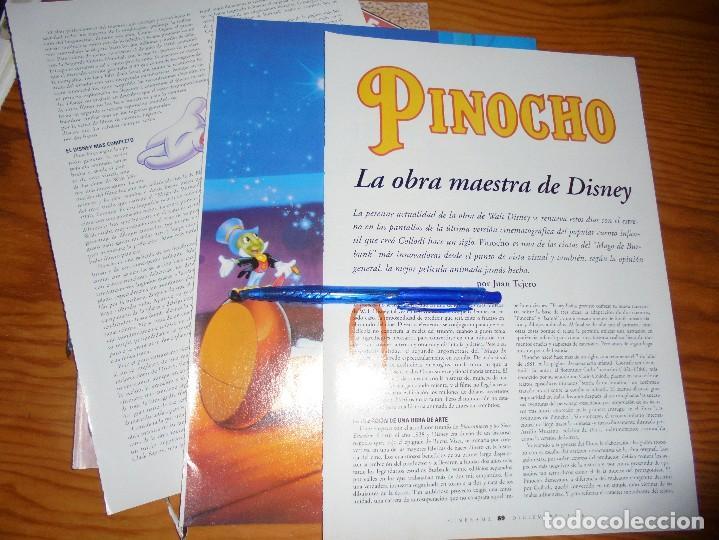 RECORTE PRENSA : PINOCHO, LA OBRA MAESTRA DE DISNEY . CINERAMA, DCMBRE 1996 (Cine - Revistas - Cinerama)