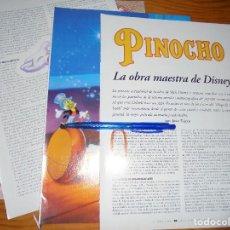 Cine: RECORTE PRENSA : PINOCHO, LA OBRA MAESTRA DE DISNEY . CINERAMA, DCMBRE 1996. Lote 128093395
