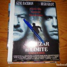 Cine: PUBLICIDAD PELICULA : AL CRUZAR EL LIMITE : GENE HACKMAN, HUGH GRANT. CINERAMA, DCMBRE 1996. Lote 128093519