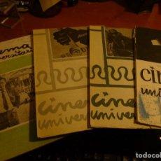 Cine: CINEMA UNIVERSITARIO, REVISTA DE CINE DEL S.E.U. NUM. 5 - 9 - 11 - 13, DE 1957 A 1960. Lote 128133283