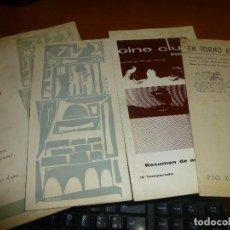 Cine: PROGRAMA DE CINE COLEGIOS PRESENTAN EN EL CURSO 1959-60, CINE CLUB PIO XII RESUMEN, LEER DESCRIPCION. Lote 128137807