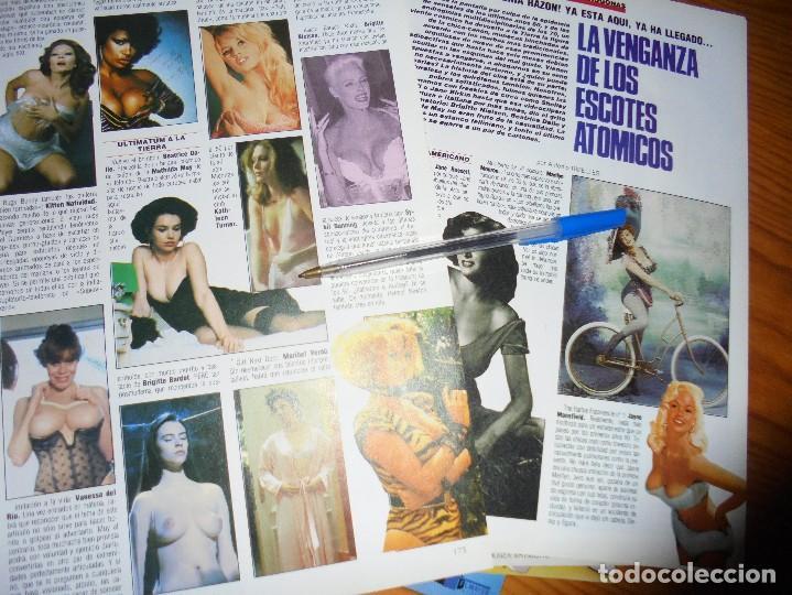 RECORTE PRENSA : LA VENGANZA DE LOS ESCOTES ATOMICOS : URSULA ANDRESS, ..... FOTOGRAMAS, MARZO 1986 (Cine - Revistas - Fotogramas)