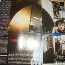 Cine: RECORTE PRENSA : SHERLOCK HOLMES SEGUN SPIELBERG . EL SECRETO DE LA PIRAMIDE. FOTOGRAMAS, MARZO 1986. Lote 128156719