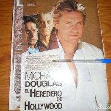Cine: RECORTE PRENSA : MICHAEL DOUGLAS EN LA JOYA DEL NILO. FOTOGRAMAS, MARZO 1986. Lote 128156791