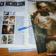 Cine: RECORTE PRENSA : ALBUM : JACK NICHOLSON. FOTOGRAMAS, MARZO 1986. Lote 128156975