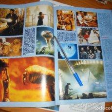 Cine: RECORTE PRENSA : PELICULAS FAMOSAS : E.T. STEVEN SPIELBERG. FOTOGRAMAS, MARZO 1986. Lote 128157039