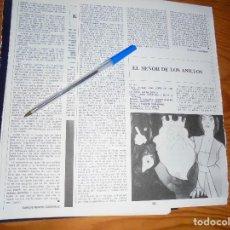 Cine: RECORTE PRENSA : EL SEÑOR DE LOS ANILLOS, VERSION ANIMADA. CINEMA 2002, MAY, 1980. Lote 128158363