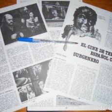 Cine: RECORTE PRENSA : EL CINE DE TERROR ESPAÑOL COMO SUBGENERO. CINEMA 2002, MAY, 1980. Lote 128158475