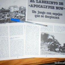 Cine: RECORTE PRENSA : EL LABERINTO DE APOCALYPSE NOW. CINEMA 2002, MAY, 1980. Lote 128158555