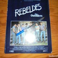 Cine: PUBLICIDAD PELICULA : REBELDES. COPPOLA : TOM CRUISE, ROB LOWE, MATT DILLON.. CINEMA 2002, MAY, 1980. Lote 128158735