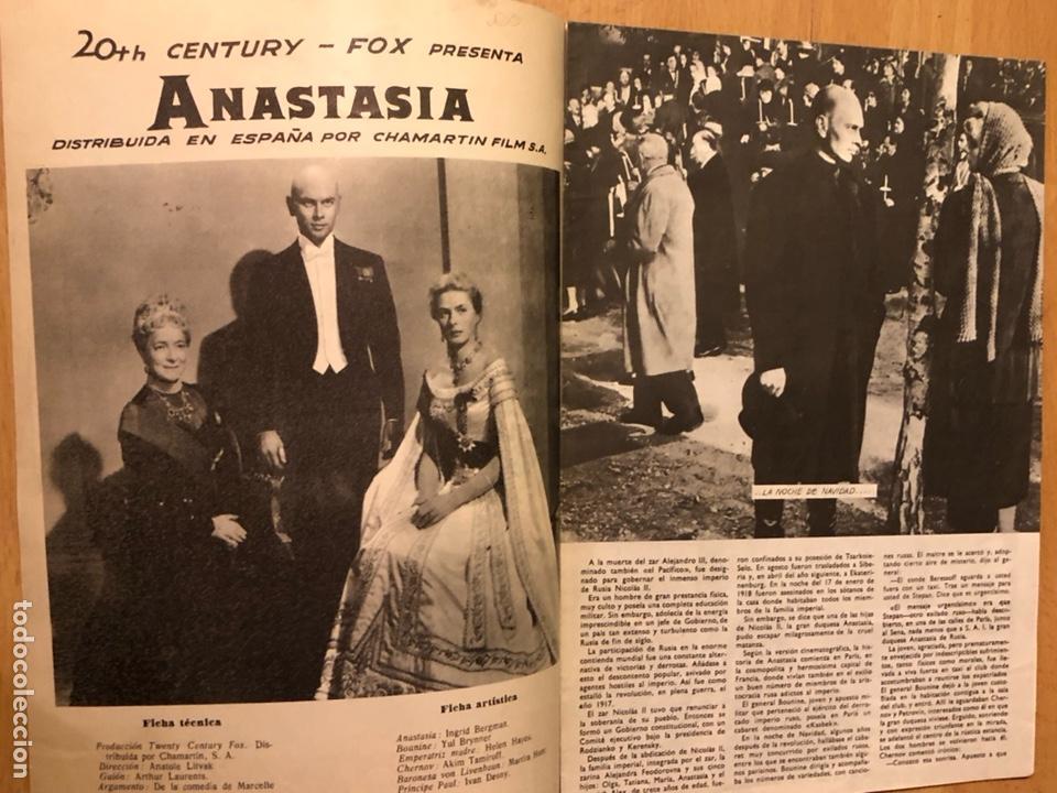 Cine: Colección de grandes películas.anastasia.ingrid Bergman yul brynner.contraportada Grace kelly - Foto 2 - 128396352