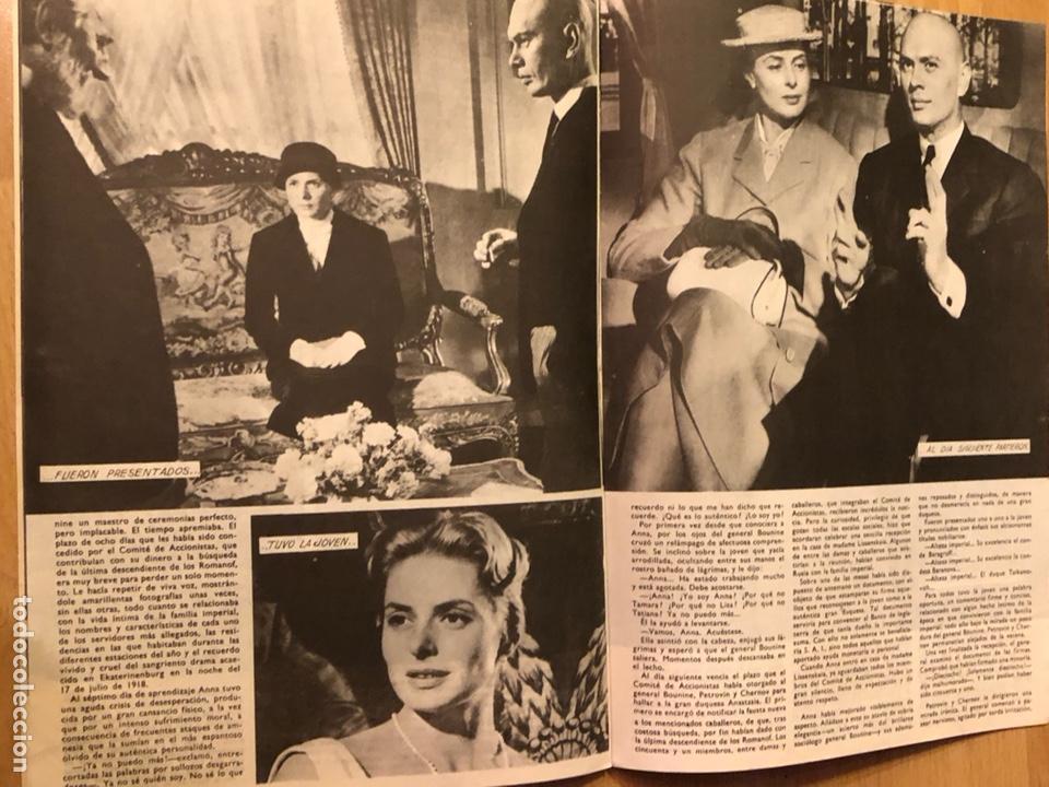 Cine: Colección de grandes películas.anastasia.ingrid Bergman yul brynner.contraportada Grace kelly - Foto 5 - 128396352