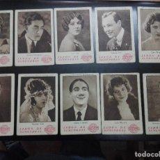 Cine: RARO ARTISTAS EMINENTES CINEMATOGRAFICOS.SERIE VII COMPLETA DE 20 ACTORES,ACTRICES DE AÑOS 20/30.. Lote 128478183