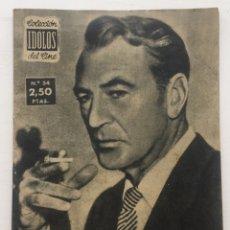 Cine: ÍDOLOS DEL CINE GARY COOPER - AÑO II N° 54 - MADRID 1958. Lote 128560651