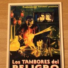 Cine: PROGRAMA CARTÓN FACSÍMIL CINE TERROR WARNER OLAND.LOS TAMBORES DEL PELIGRO. Lote 128678832