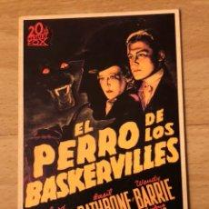 Cine: PROGRAMA CARTÓN FACSÍMIL CINE TERROR EL PERRO DE LOS BASKERVILLES. Lote 128678862