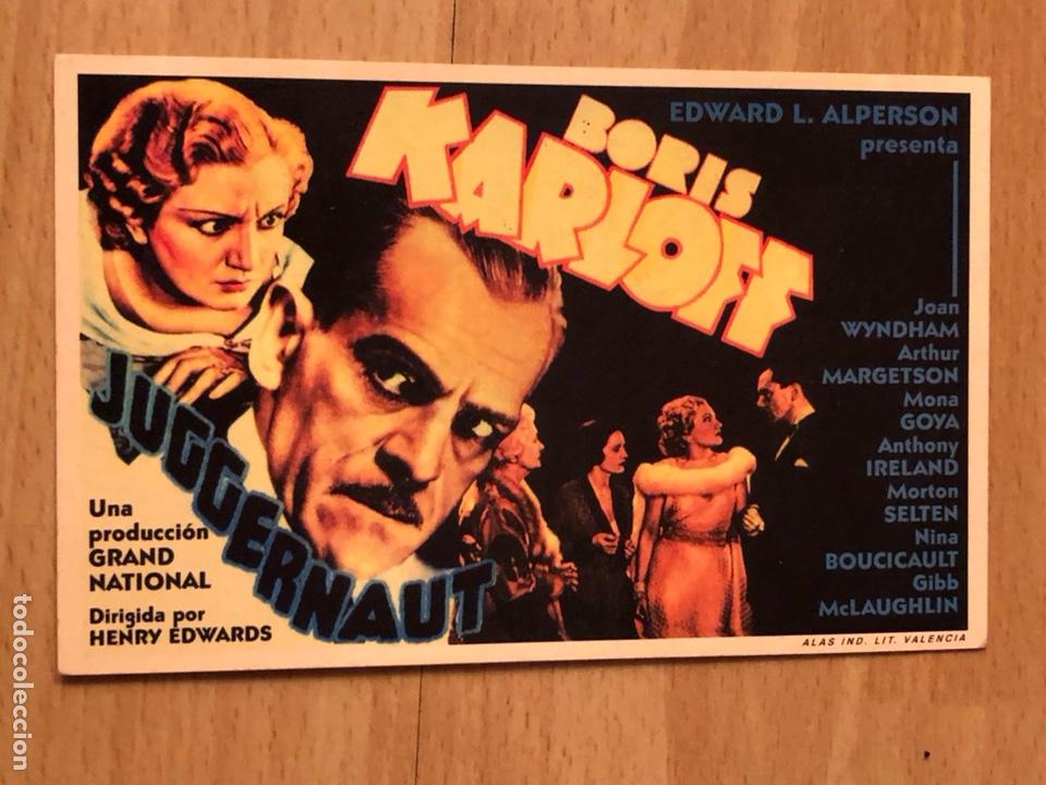PROGRAMA CARTÓN FACSÍMIL CINE TERROR BORIS KARLOFF CRIMEN EN LA RIBERA (Cine - Reproducciones de carteles, folletos...)