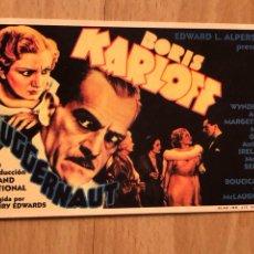 Cine: PROGRAMA CARTÓN FACSÍMIL CINE TERROR BORIS KARLOFF CRIMEN EN LA RIBERA. Lote 128678875