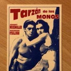 Cine: PROGRAMA CARTÓN FACSÍMIL JOHNNY WEISSMULLER.TARZAN DE LOS MONOS. Lote 128679176