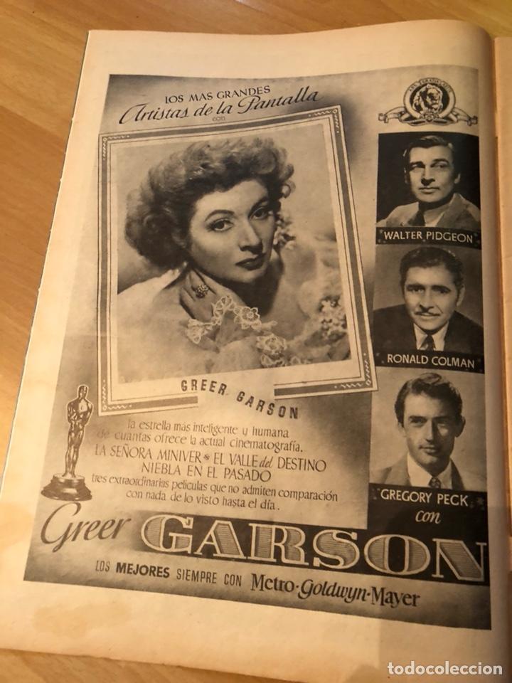 Cine: Imágenes revista de la cinematografia con publicidad perfumes.Maria montez noviembre 1946 - Foto 2 - 138140426