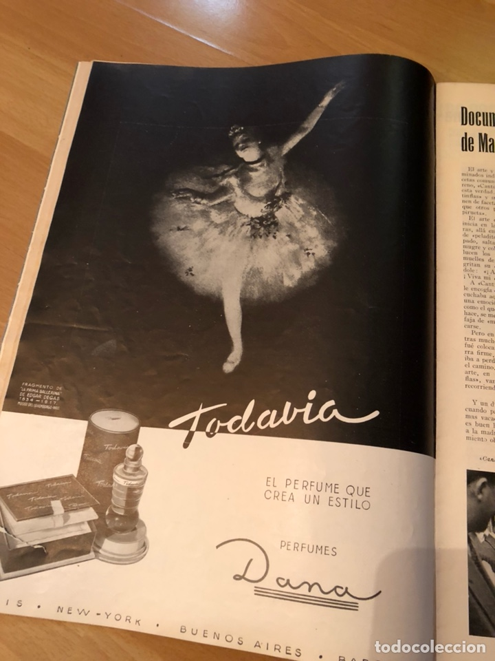 Cine: Imágenes revista de la cinematografia con publicidad perfumes.Maria montez noviembre 1946 - Foto 3 - 138140426