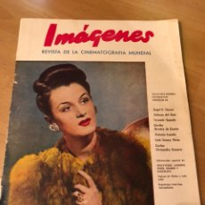 Cine: IMÁGENES REVISTA DE LA CINEMATOGRAFIA CON PUBLICIDAD PERFUMES.ANA MARIA CAMPOY ENERO 1946. Lote 128766632