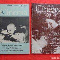 Cine: FULLS DE CINEMA, REVISTA Nº4 Y 5, FEDERACIÓ CATALANA DEL CINE-CLUB, 64 PÁGINAS.. Lote 128770507