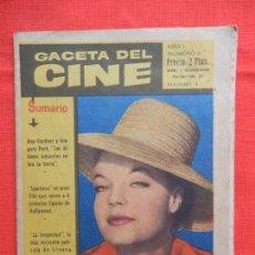 Cine: GACETA DEL CINE, NÚMERO 4, ROMY SCHNEIDER, 20 PÁGINAS. Lote 128777875