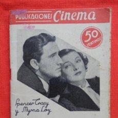 Cine: JAQUE AL REY, NOVELA PUBLICACIONES CINEMA, SPENCER TRACY MIRNA LOY, Nº22, 32 PÁG.. Lote 128778227